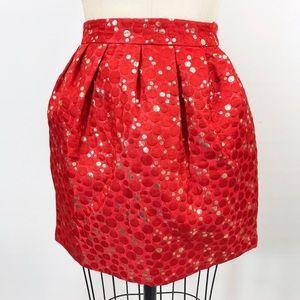 Anthropology | Lauren Moffatt Red Crimson Skirt